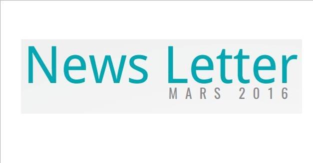 Newsletter : Mars 2016